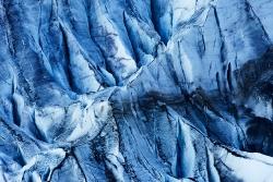 Spalten im Gletscher